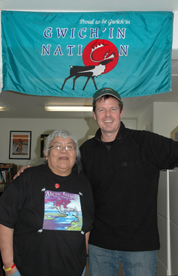 xCREW Producer Michael Harris with legendary Gwichin leader Sarah James photo Kevin Ely